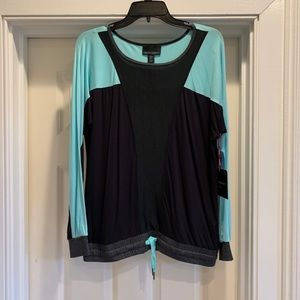Cynthia Rowley Long Sleeve Workout Top, S
